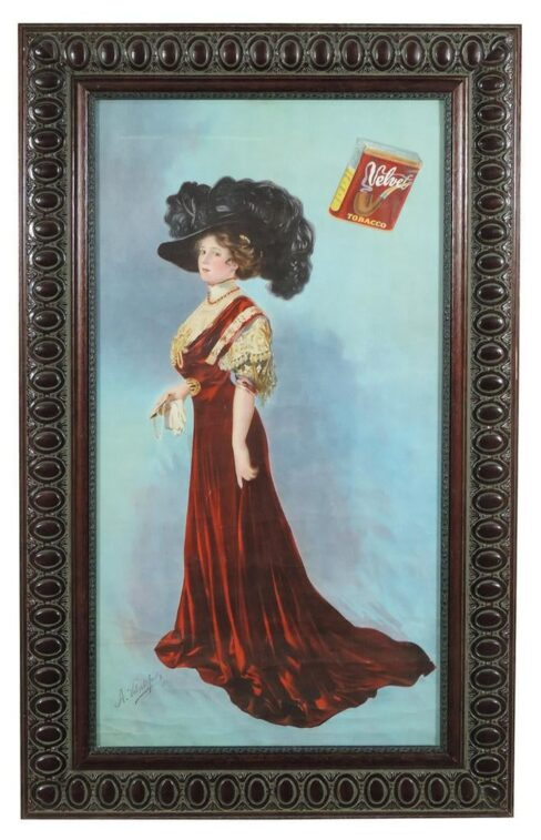 Velvet Tobacco Lithograph, Liggett & Myers Tobacco Co., Circa 1900