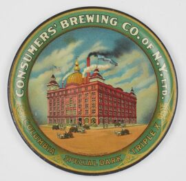 Consumers Brewing Company of New York, Tip Tray, Circa 1910