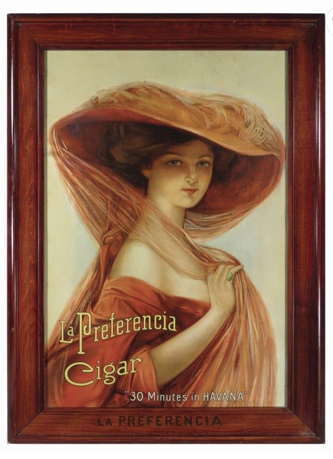 La Preferencia Cigars Lithograph, Havana, Cuba. Circa 1910